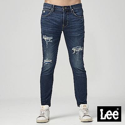 Lee 低腰修身窄管牛仔褲-深藍
