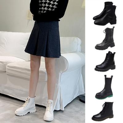 [時時樂限定]韓國KW美鞋館-極簡英倫風百搭經典美靴(7款可選)