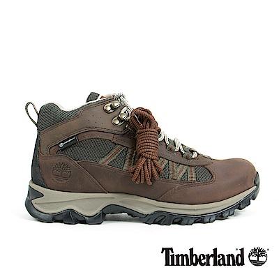 Timberland 男款深咖啡色粒面皮革休閒鞋 | A1L3X931