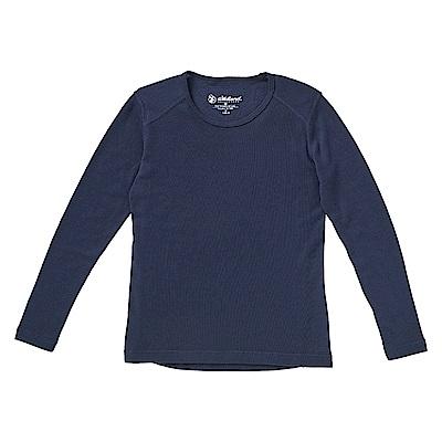 Wildland 中童Highest彈性圓領保暖衣深藍