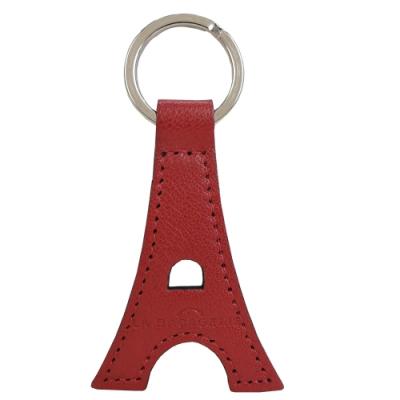 LA BAGAGERIE 牛皮鐵塔造型鑰匙圈(櫻桃紅)