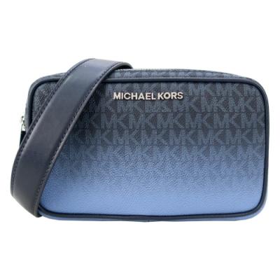 MICHAEL KORS CONNIE 滿版雙拉鍊相機包-漸層藍