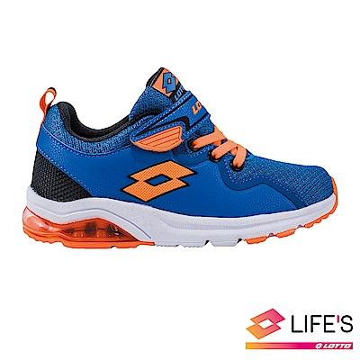 LOTTO 義大利 童 VIGOR RIDE 氣墊跑鞋 (藍橘)
