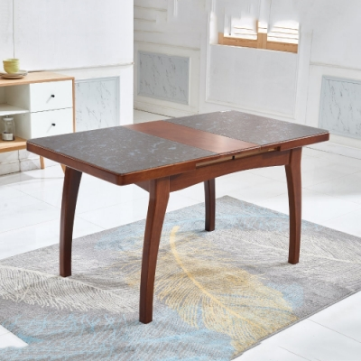 MUNA 奧麗莉4尺實木拉合餐桌(不含椅) 120X80X75cm