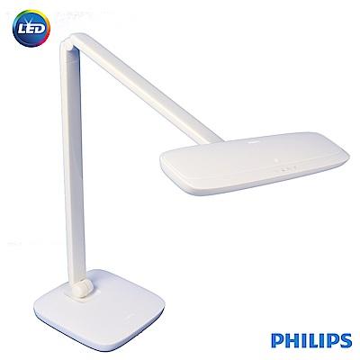 (福利品)飛利浦 PHILIP 軒璽 座夾兩用LED檯燈-白色(66049)