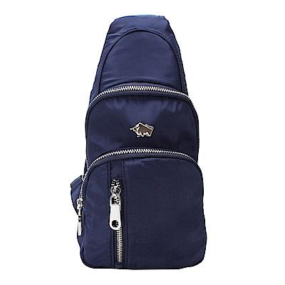 DRAKA 達卡 - 防潑水多層兩用單肩斜背胸包-藍
