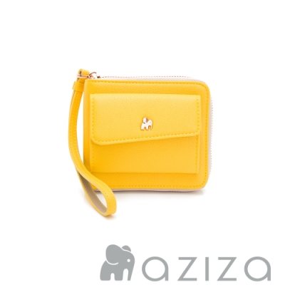 aziza AGNES手拎短夾 黃