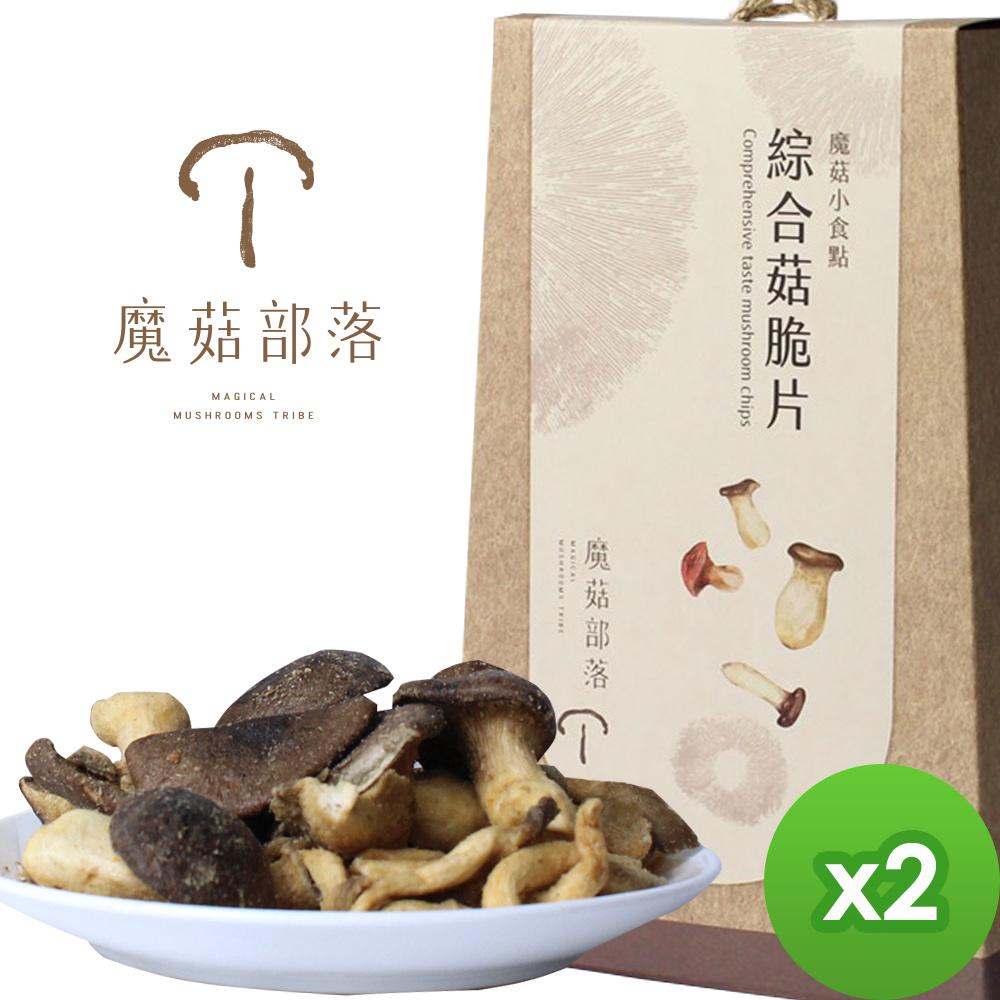 魔菇部落 魔菇小食點-綜合菇脆片(75gX2盒) @ Y!購物