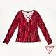 GUESS-女裝-斑馬紋長袖上衣-紅 product thumbnail 1