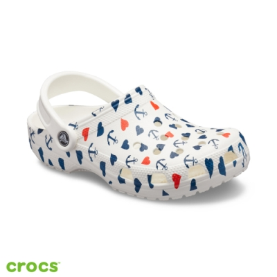 Crocs 卡駱馳 (中性鞋) 經典航海印花克駱格 206053-94S