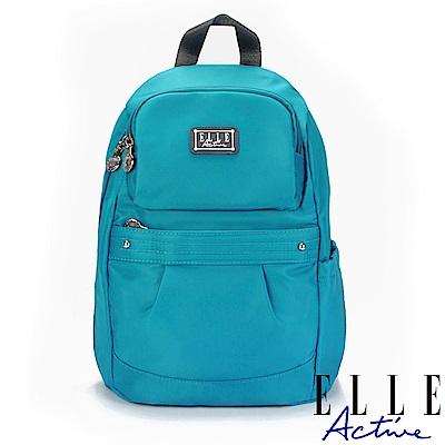 ELLE Active 優雅隨行系列-防盜 後背包-小-藍綠色