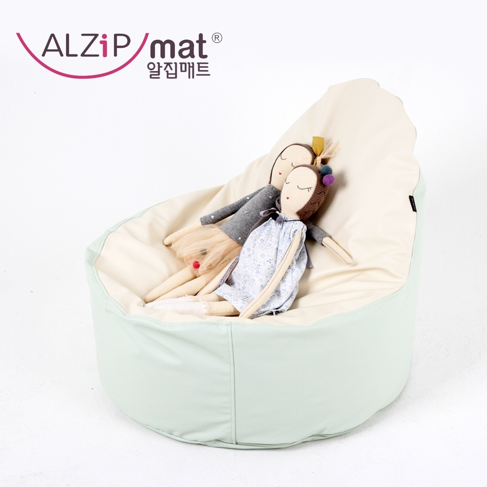 【ALZiPmat】韓國 EGG BEAN BAG 泡芙椅 - 芝麻泡芙