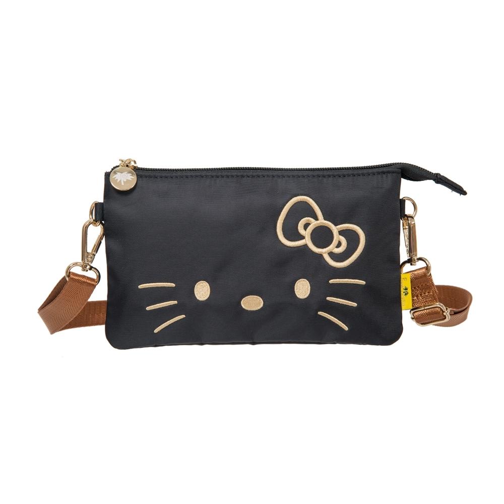 【Hello Kitty】經典凱蒂-雙層萬用包-黑 FPKT0D003BK