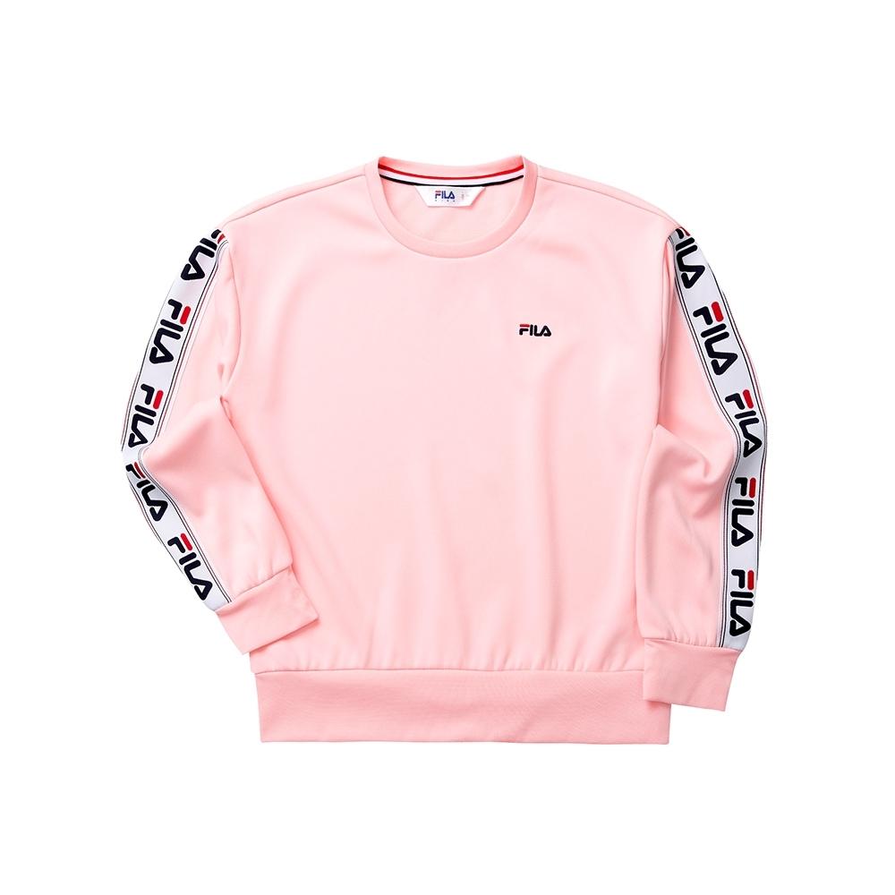 FILA KIDS 女童長袖針織圓領T恤-粉色 5TET-8443-PK