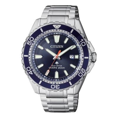 CITIZEN 星辰 PROMASTER 光動能潛水運動腕錶-44.5mm(BN0191-80)