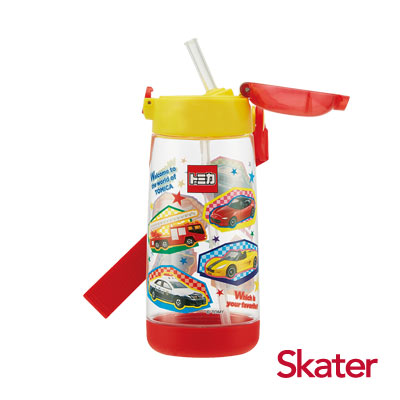 Skater PET吸管水壺(480ml) TOMICA