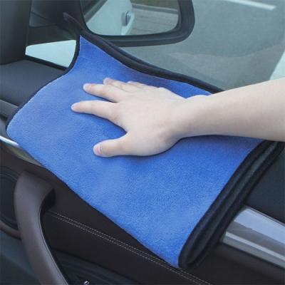 E.City_(2入)可掛式加厚雙面珊瑚絨洗車布玻璃擦拭巾