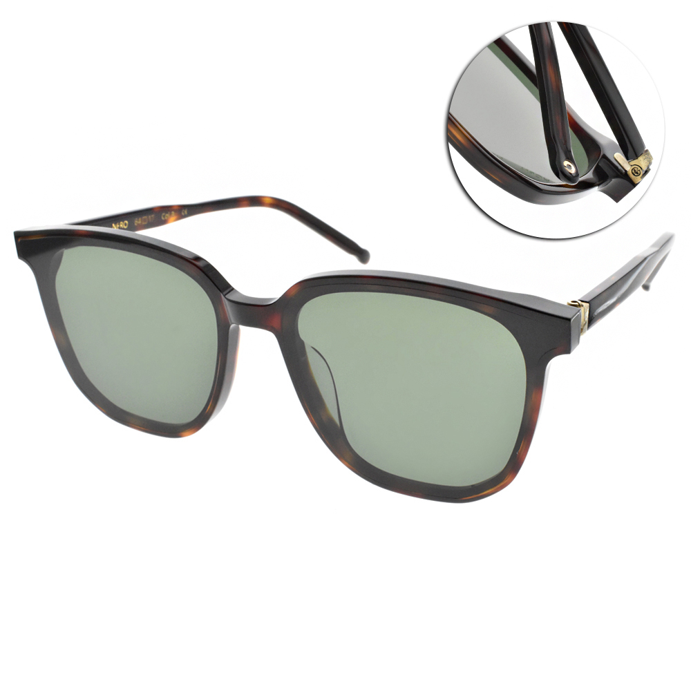 NINE ACCORD太陽眼鏡 修飾大框款/琥珀棕 #HORN NERO C3