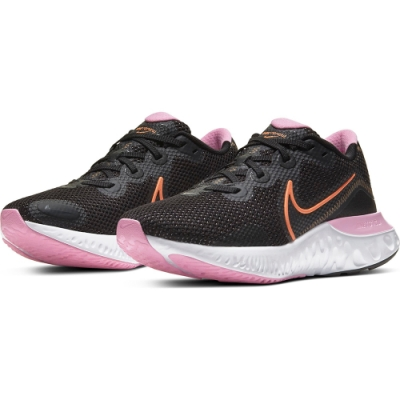 NIKE 慢跑鞋 女鞋 輕量  路跑 運動鞋 黑 粉 CK6360001  RENEW RUN