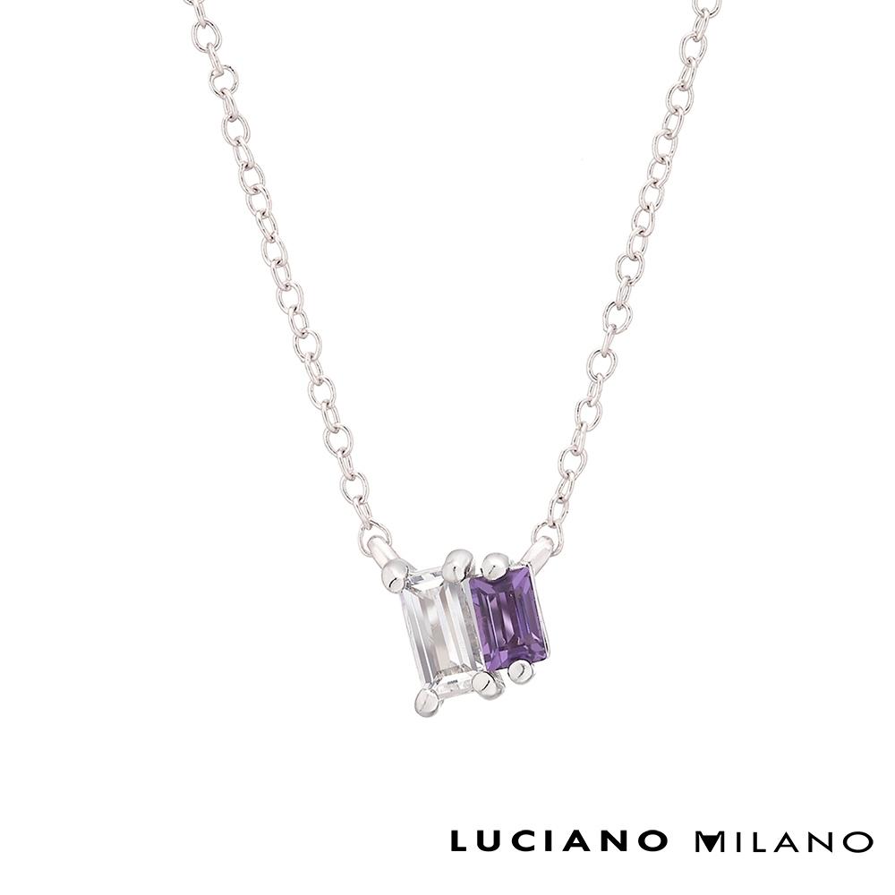 LUCIANO MILANO 水晶精靈 純銀項鍊(白K色/金色/玫瑰金色)