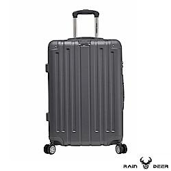 RAIN DEER 米克斯24吋ABS鑽石紋防刮行李箱-鐵灰色