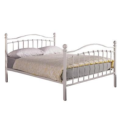 品家居 吉恩5尺鐵製雙人床架(不含床墊+二色可選)-160x200x112cm免組