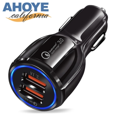 AHOYE QC3.0極速車用充電器 車充 快充