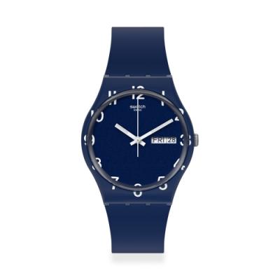 Swatch Gent 原創系列手錶 OVER BLUE-34mm