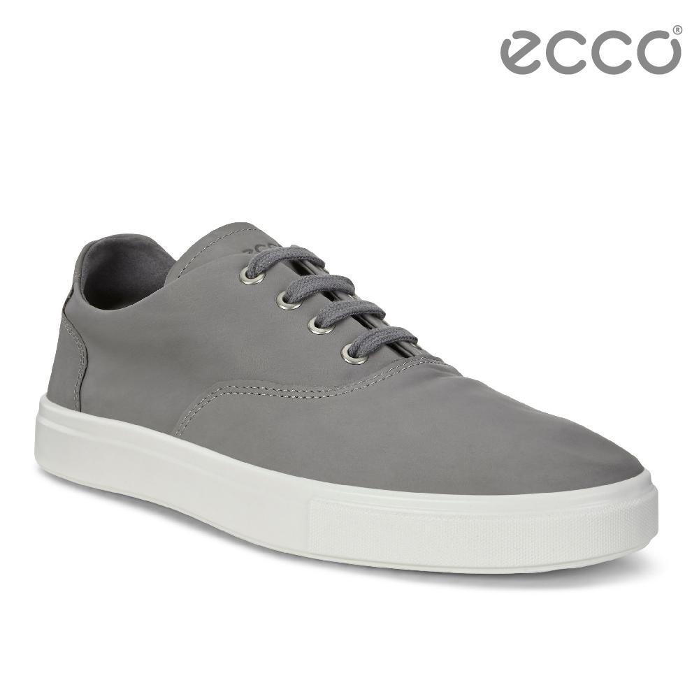 ECCO KYLE 超柔軟牛皮兩穿懶人鞋-灰