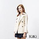 KiKi INLook 優雅合身收腰短版風衣(粉色)