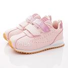 FILA頂級童鞋 復古慢跑鞋款 EI28T-511粉(中小童段)