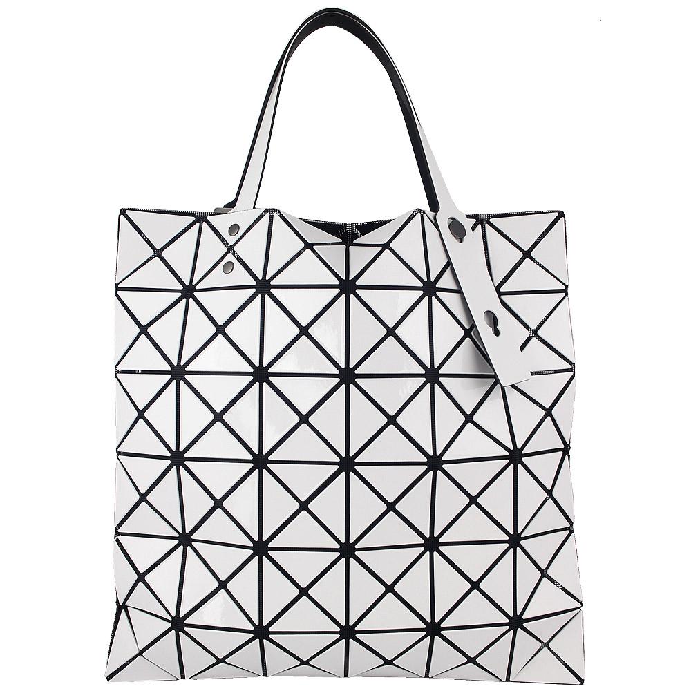 ISSEY MIYAKE 三宅一生BAOBAO三角方格6x6手提包(白色)