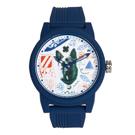 AX STREET ART系列ALEX LEHOURS潮流童趣狗頭設計手錶-藍