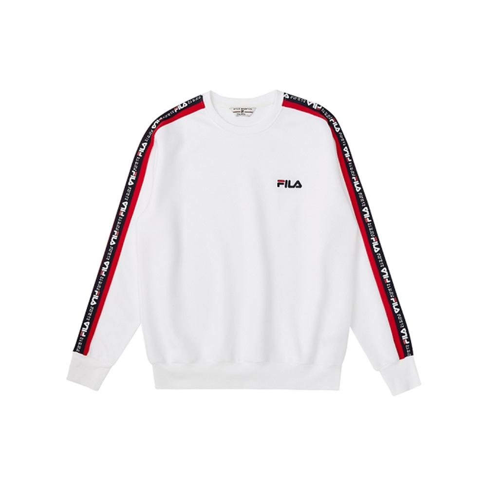 FILA #扳勢回潮 長袖圓領T恤-白色 1TEV-5411-WT