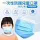 拋棄式兒童口罩 藍色三層防護(50入/包) product thumbnail 1