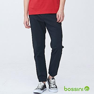 bossini男裝-輕鬆彈性束口長褲02黑