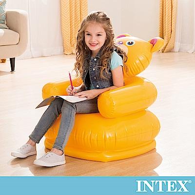 INTEX 可愛動物兒童充氣椅-小熊(68556)