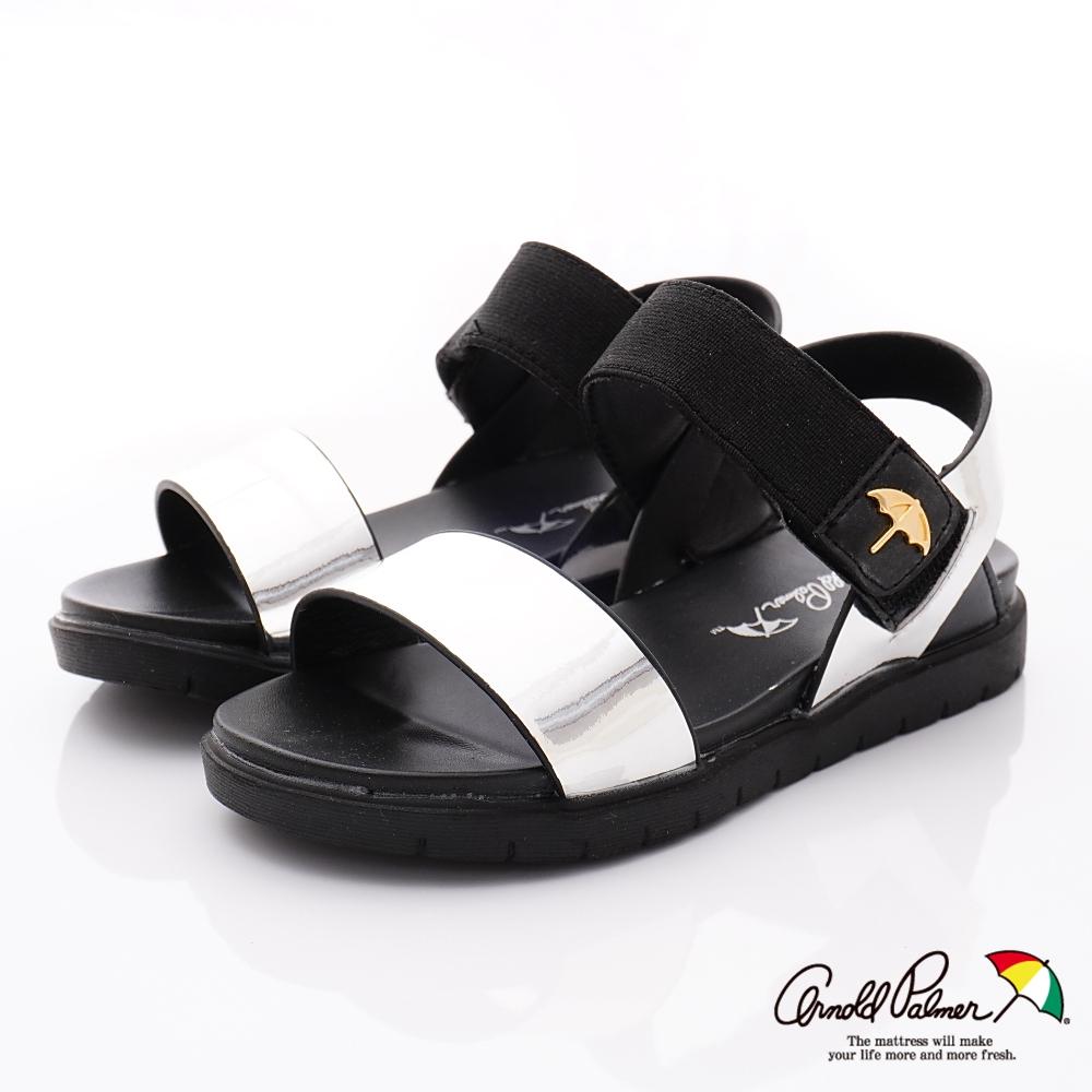 雨傘牌 晶亮休閒涼鞋款 EI93856銀色(中小童段)