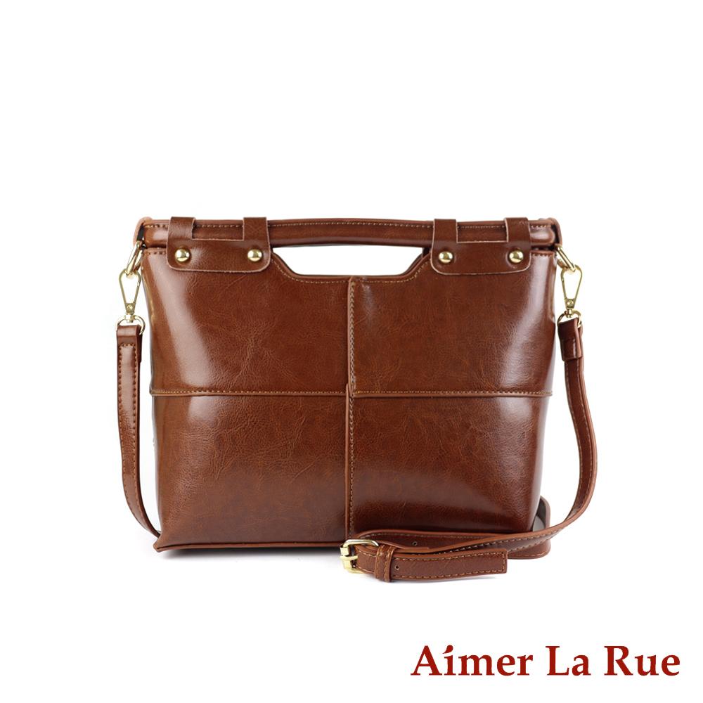 Aimer La Rue 日光質感真皮手提側背斜背包(二色) product image 1