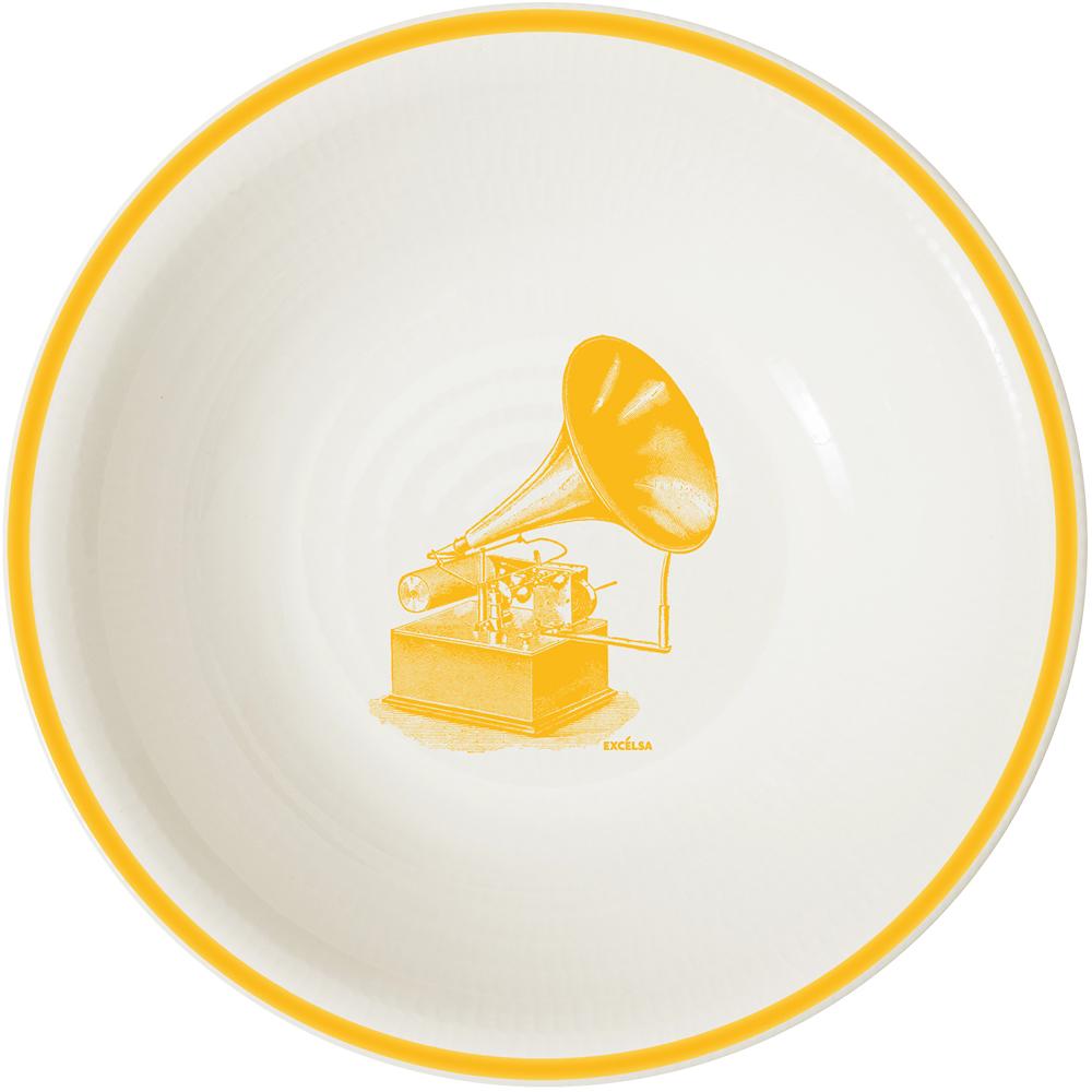 《EXCELSA》陶製湯碗(喇叭黃)