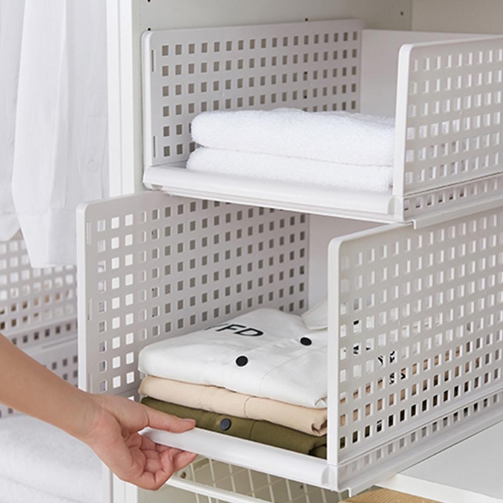 E-dot 多功能可拆可疊抽取式收納箱
