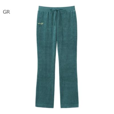 aimerfeel 素色絲絨運動服長褲-綠色-840250-GR