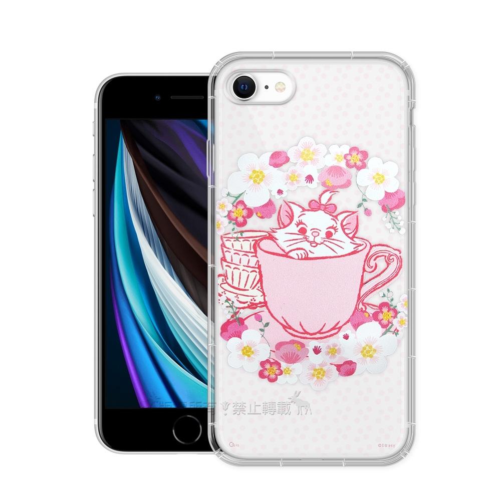 迪士尼授權 櫻花系列 iPhone SE 2020/SE2 空壓防護手機殼(瑪麗貓)