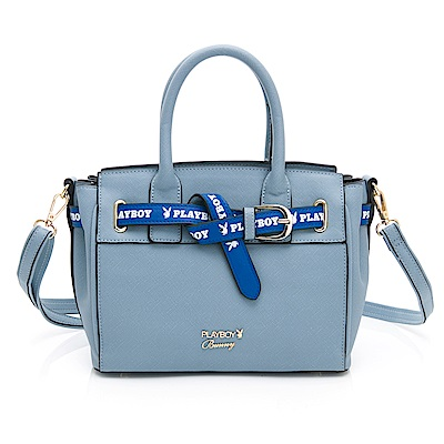 PLAYBOY- 手提包附長背帶  玩色繽紛系列-淡藍色