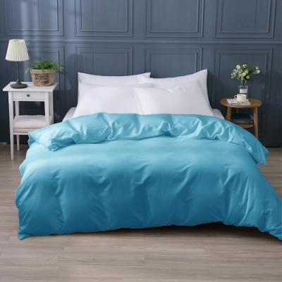 岱思夢 台灣製 素色薄被套 單人4.5x6.5尺 日系無印風 柔絲棉 丈青藍