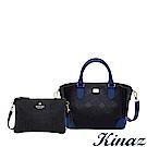 KINAZ 慶祝雙十兩用斜背包1+1完美組合-煙燻深藍-模特兒系列