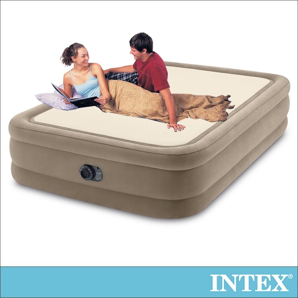 【INTEX】全平面涼感雙氣室雙人加大充氣床墊152x203x高51cm (64477)