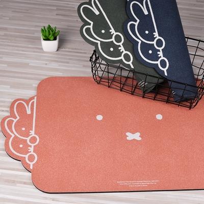 【Miffy米飛】頂吸 軟式珪藻土吸水地墊 躲貓貓左框 (60 x 40cm)