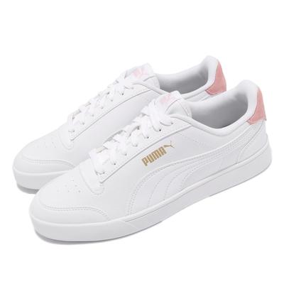 Puma 休閒鞋 Shuffle 板鞋 復古 女鞋 皮革鞋面 穿搭 基本款 上學 白 粉 30966802