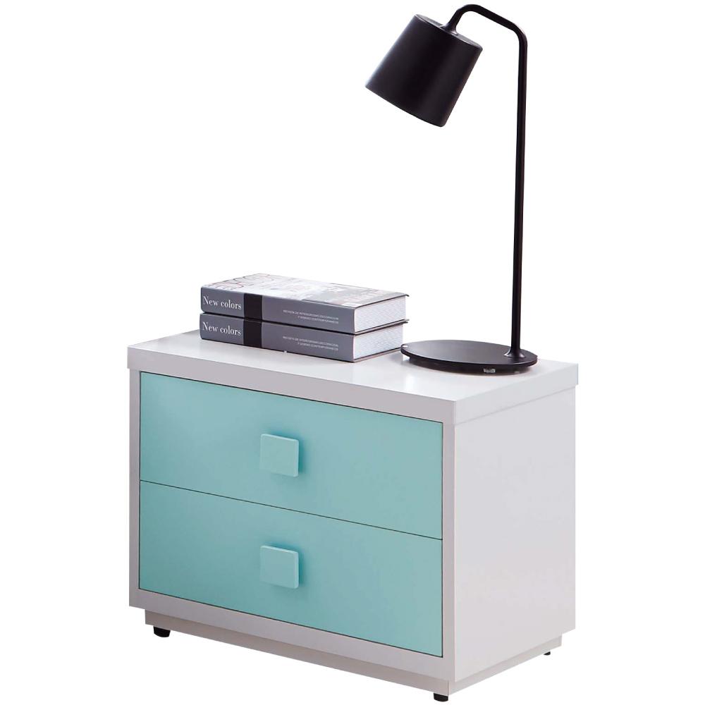 文創集 柯利森時尚1.7尺雙色床頭櫃/收納櫃-52x40x46cm免組